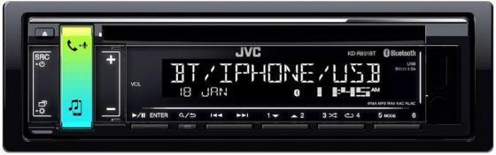 Автомагнитола JVC KD-R891BT USB MP3 CD FM RDS 1DIN 4x50Вт черный автомагнитола kenwood kdc 151ry usb mp3 cd fm 1din 4х50вт черный