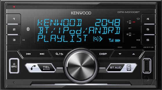 Автомагнитола Kenwood DPX-M3100BT USB MP3 CD FM RDS 2DIN 4х50Вт черный автомагнитола kenwood kdc 210ui