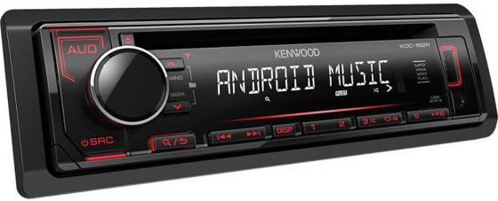 Автомагнитола Kenwood KDC-152R USB MP3 CD FM RDS 1DIN 4х50Вт черный автомагнитола kenwood kmm 103ay usb mp3 fm 1din 4х50вт черный