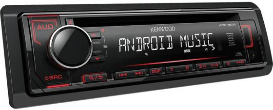 Автомагнитола Kenwood KDC-152R USB MP3 CD FM RDS 1DIN 4х50Вт черный чехол накладка apple silicone case midnight blue для iphone 7 plus mmqu2zm a силикон темно синий