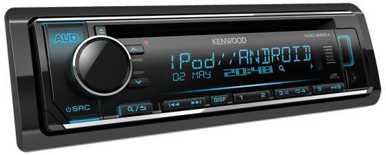 Автомагнитола Kenwood KDC-220UI USB MP3 CD FM RDS 1DIN 4х50Вт черный jp 247 30шкатулка сердце pavone