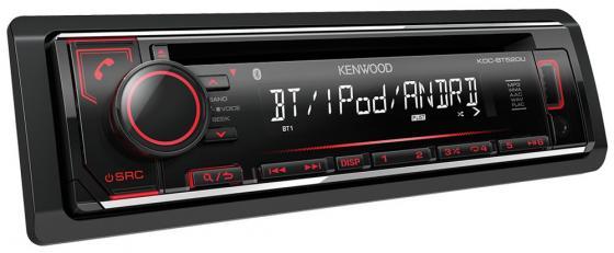 Автомагнитола Kenwood KDC-BT520U USB MP3 CD FM RDS 1DIN 4х50Вт черный автомобильная магнитола с cd mp3 kenwood kdc 152r