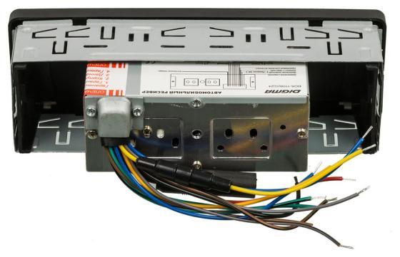 Автомагнитола Digma DCR-110B24 USB MP3 FM 1DIN 4x45Вт черный