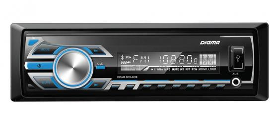 Автомагнитола Digma DCR-420B USB MP3 FM 1DIN 4x45Вт черный автомагнитола digma dcr 300g usb mp3 fm 1din 4x45вт черный