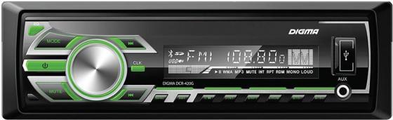цена Автомагнитола Digma DCR-420G USB MP3 FM 1DIN 4x45Вт черный в интернет-магазинах