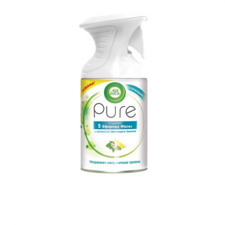 Air Wick Pure Освежитель воздуха 5 Эфирных Масел с ароматом Цветущего Лимона 250 мл освежитель воздуха air wick pure весеннее настроение