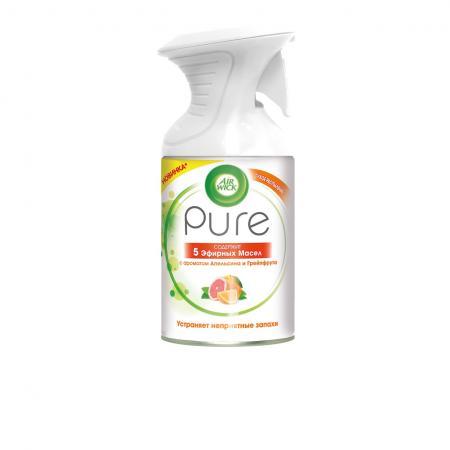 Air Wick Pure Освежитель воздуха 5 Эфирных Масел с ароматом Апельсина и Грейпфрута 250 мл air wick pure освежитель воздуха 5 эфирных масел с ароматом цветущего лимона 250 мл