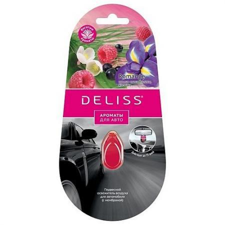 DELISS Подвесной освежитель воздуха для автомобиля Romance 4мл koto 5075692 4 24 освежитель воздуха четырехлистный клевер 4 шт