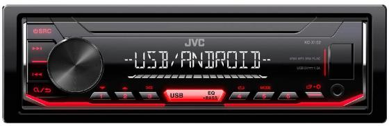 Автомагнитола JVC KD-X152 USB MP3 FM RDS 1DIN 4x50Вт черный 1 8mm stainless steel quick release pin 12mm 14mm 16mm 17mm 18mm 19mm 20mm 21mm 22mm 23mm 24mm repair spring bar for watch band
