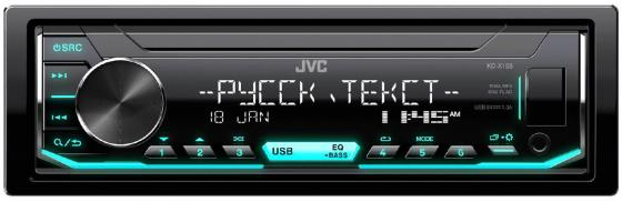 Автомагнитола JVC KD-X155 USB MP3 FM RDS 1DIN 4x50Вт черный цена