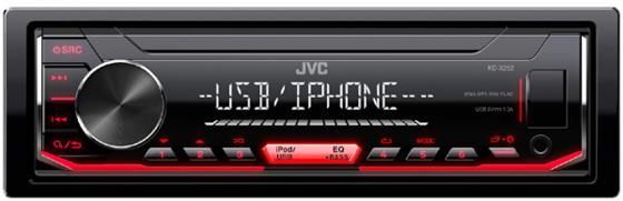 Автомагнитола JVC KD-X252 USB MP3 FM RDS 1DIN 4x50Вт черный автомагнитола jvc kd x352bt usb mp3 fm rds 1din 4x50вт черный