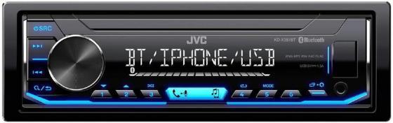 Автомагнитола JVC KD-X351BT USB MP3 FM 1DIN 4x50Вт черный автомагнитола kenwood kmm 103ay usb mp3 fm 1din 4х50вт черный