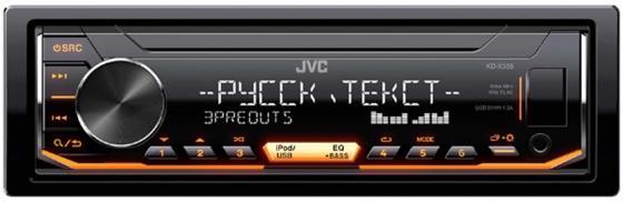 Автомагнитола JVC KD-X355 USB MP3 FM 1DIN 4x50Вт черный автомагнитола kenwood kdc 210ui usb mp3 cd fm 1din 4х50вт черный