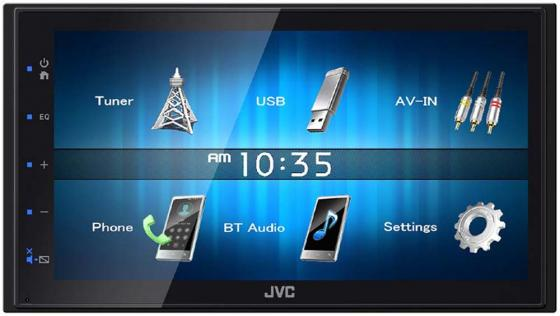 Автомагнитола JVC KW-M14 6.8 800x480 USB MP3 FM RDS 2DIN 4x50Вт черный gps navigation hd 2din 6 2 inch car stereo dvd player bluetooth ipod mp3 tv camera