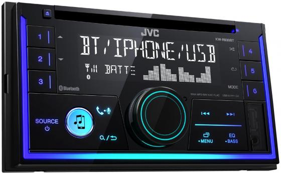 Автомагнитола JVC KW-R930BT USB MP3 FM RDS 2DIN 4x50Вт черный gps navigation hd 2din 6 2 inch car stereo dvd player bluetooth ipod mp3 tv camera