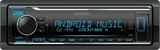 Автомагнитола Kenwood KMM-124 USB MP3 CD FM RDS 1DIN 4х50Вт черный lapel cotton trench coat