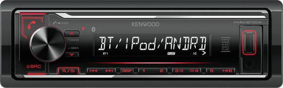 Автомагнитола Kenwood KMM-BT204 USB MP3 CD FM RDS 1DIN 4х50Вт черный free shipping 10pcs mpc1724