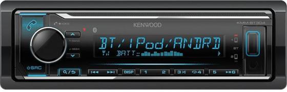 Автомагнитола Kenwood KMM-BT304 USB MP3 CD FM RDS 1DIN 4х50Вт черный автомагнитола kenwood kdc 210ui usb mp3 cd fm 1din 4х50вт черный