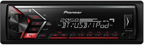 Автомагнитола Pioneer MVH-S300BT USB MP3 FM RDS 1DIN 4x50Вт черный автомагнитола pioneer mvh s300bt usb