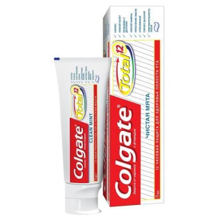 Зубная паста Colgate Total 12 Чистая мята 75 мл зубная паста babyline со вкусом тутти фрутти жевачки 75 мл