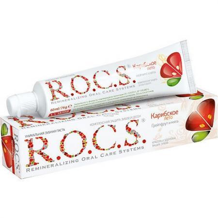 Зубная паста R.O.C.S. Грейпфрут и Мята 74 гр цены