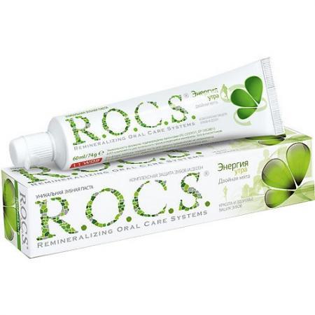 Зубная паста R.O.C.S. Двойная Мята 74 гр r o c s детская зубная паста цитрусовая радуга r o c s kids 4 7 лет 45г