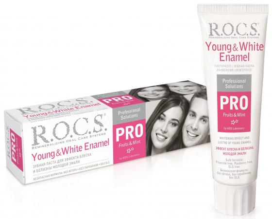 Зубная паста R.O.C.S. PRO Young & White Enamel 135 гр enamel