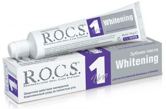 Зубная паста R.O.C.S. Uno Whitening 74 гр зубная паста r o c s magic whitening 74 г