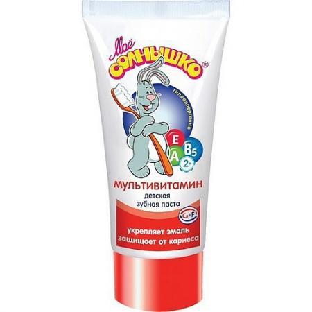 МОЕ СОЛНЫШКО Зубная паста Мультивитамин 65г моё солнышко зубная паста мультивитамин 65 г моё солнышко
