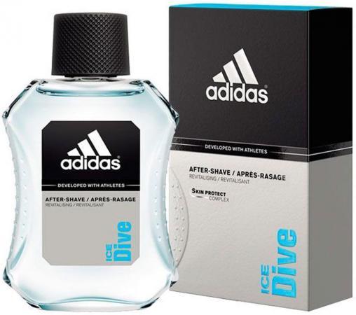 Лосьон после бритья ADIDAS Ice Dive 100 мл лосьоны после бритья adidas лосьон после бритья adidas pure game 100 мл