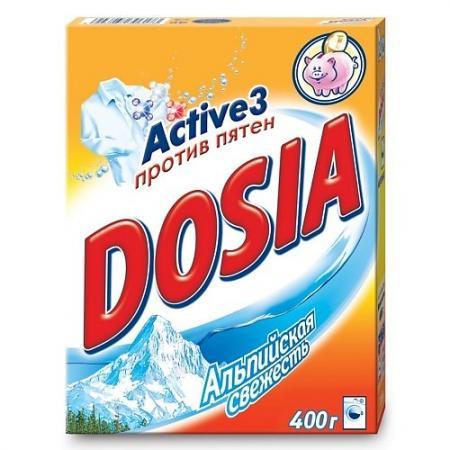 DOSIA Стиральный порошок автомат Альпийская свежесть 400гр рб dosia стир порошок авт белый снег 400гр 931553