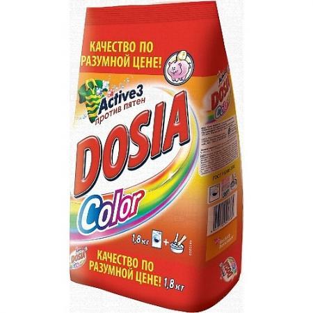 Стиральный порошок DOSIA Color 1.8кг стиральный порошок dosia color active max против пятен 1 8 кг