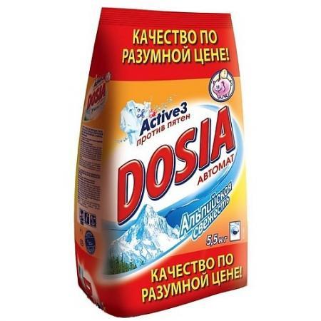 DOSIA Стиральный порошок автомат Альпийская свежесть 5,5кг рб dosia стир порошок авт белый снег 400гр 931553