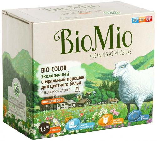 Стиральный порошок BioMio Bio-Color с экстрактом хлопка 1.5кг