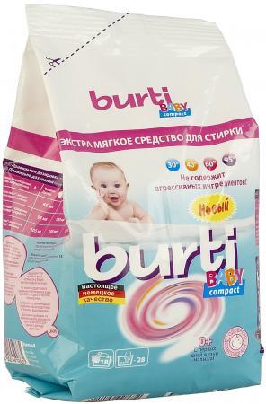 BURTI Концентрированный стиральный порошок Burti Compact Baby для детского белья 0.9кг гель для стирки детского белья burti универсальный burti liquid baby 1 5л
