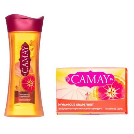 CAMAY Гель для душа Динамик 250мл Мыло туалетное Динамик спайка 85г гели camay гель для душа динамик 250мл