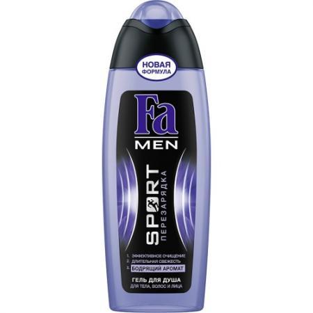 FA MEN Гель для душа Sport Перезарядка 250мл fa men гель для душа лавина свежести 250мл