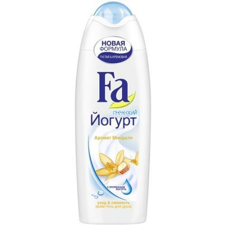Fa Крем-гель для душа Греческий йогурт Миндаль 250 мл косметика для мамы fa жидкое крем мыло греческий йогурт миндаль 250 мл