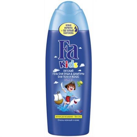Fa Kids Гель для душа Храбрый Пират 250мл fa детский гель для душа и шампунь для тела и волос пират 250 мл