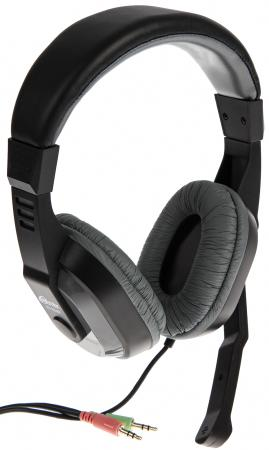 Игровая гарнитура проводная Ritmix RH-534M черный серый гарнитура ritmix rh 105m черный