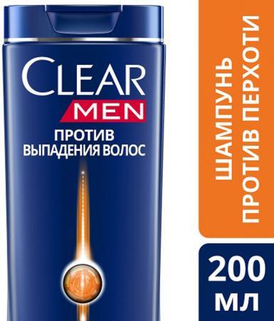 Шампунь Clear Против выпадения волос 200 мл женщины против мужчин