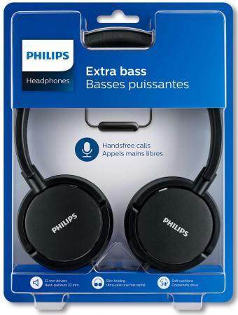 Гарнитура Philips SHL5005/00 черный гарнитура philips shq3405bl 00 blue