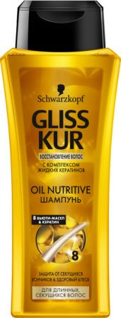 Шампунь Gliss Kur Oil Nutritive 250 мл gliss kur шампунь аква уход 250 мл