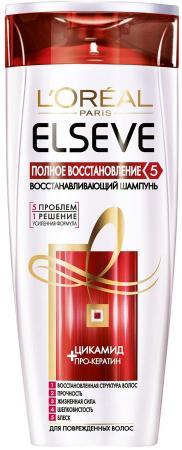 LOREAL ELSEVE Шампунь для волос Полное восстановление 5 400мл косметика для мамы loreal elseve полное восстановление 5 шампунь восстанавливающий 250 мл