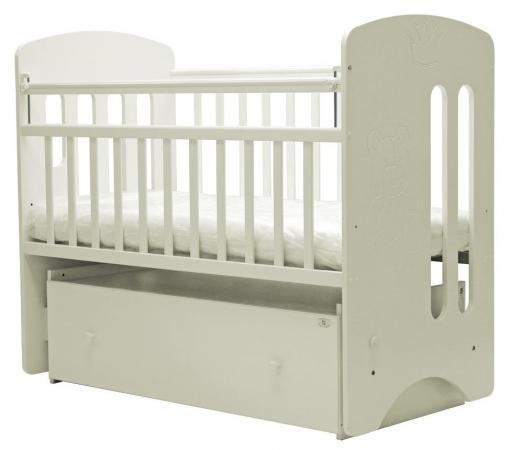 Кроватка с маятником Топотушки Каролина (арт. 40/слоновая кость) кроватка с маятником sweet baby eligio avorio слоновая кость