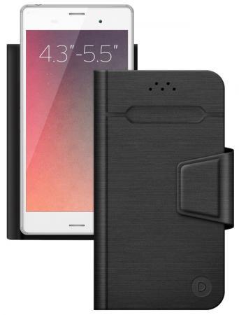 все цены на Чехол-подставка Deppa для смартфонов Wallet Fold M 4.3''-5.5'' черный 87005