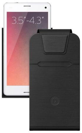 Чехол Deppa для смартфонов Flip Fold S 3.5''-4.3' черный 87015 аксессуар чехол deppa flip fold s 3 5 4 3 grey 87016