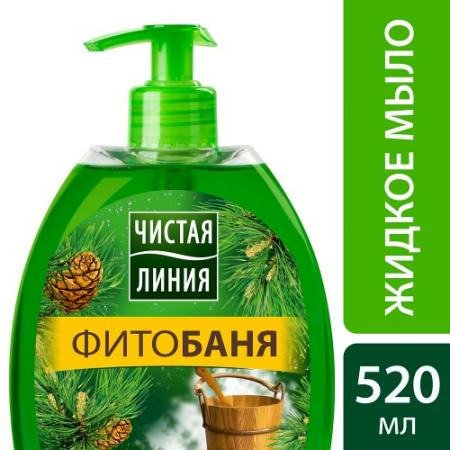 ЧИСТАЯ ЛИНИЯ Мягкое мыло для лица и рук ФИТОбаня 520мл мыло чистая линия фитобаня нежный пилинг 75г