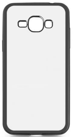 Чехол силиконовый DF sCase-27 с рамкой для Samsung Galaxy J1 2016 черный аксессуар чехол samsung galaxy j1 2016 df scase 27 rose gold