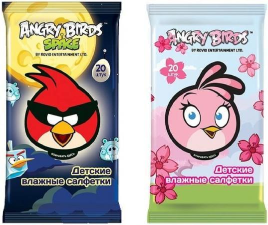 Салфетки влажные Angry Birds Детсткие 20 шт не содержит спирта в ассортименте светоотражатель angry birds в ас те полистирол